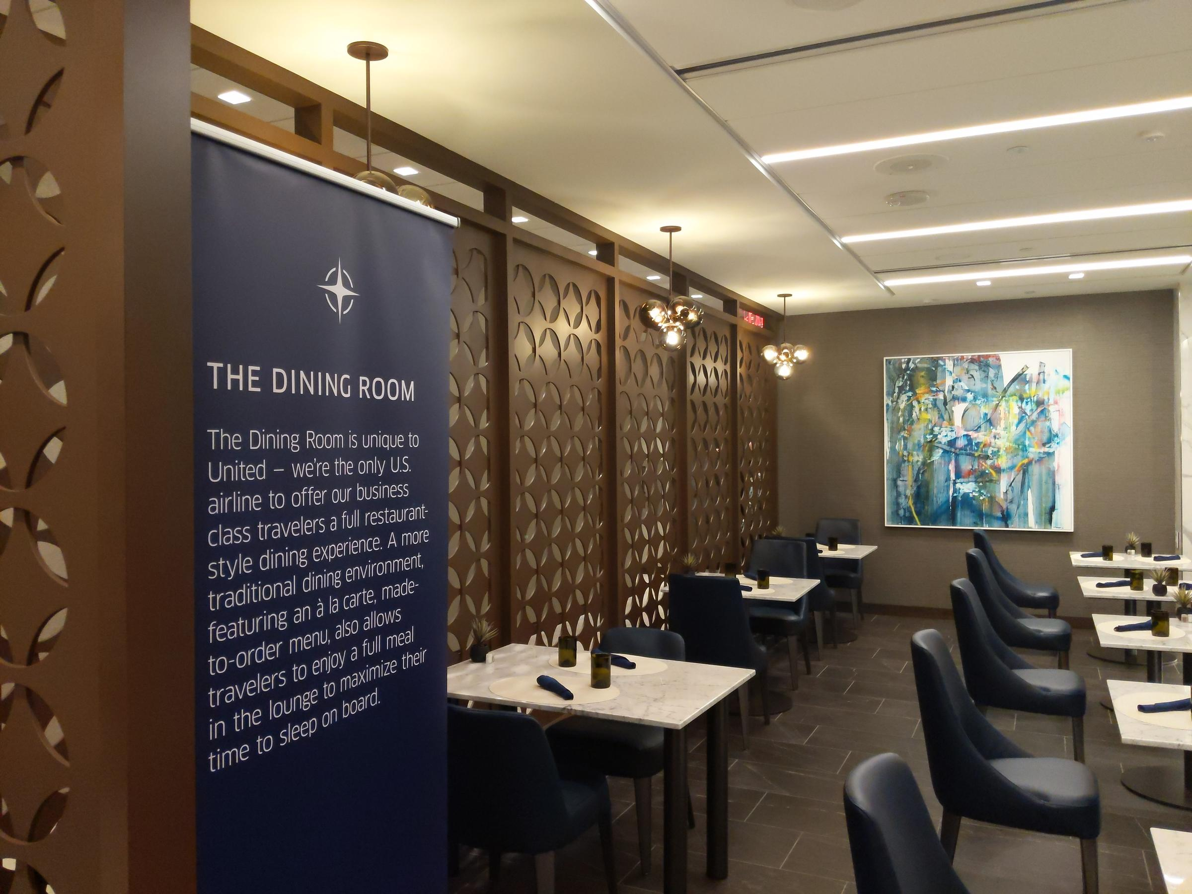 United Polaris Lounge Dining Room