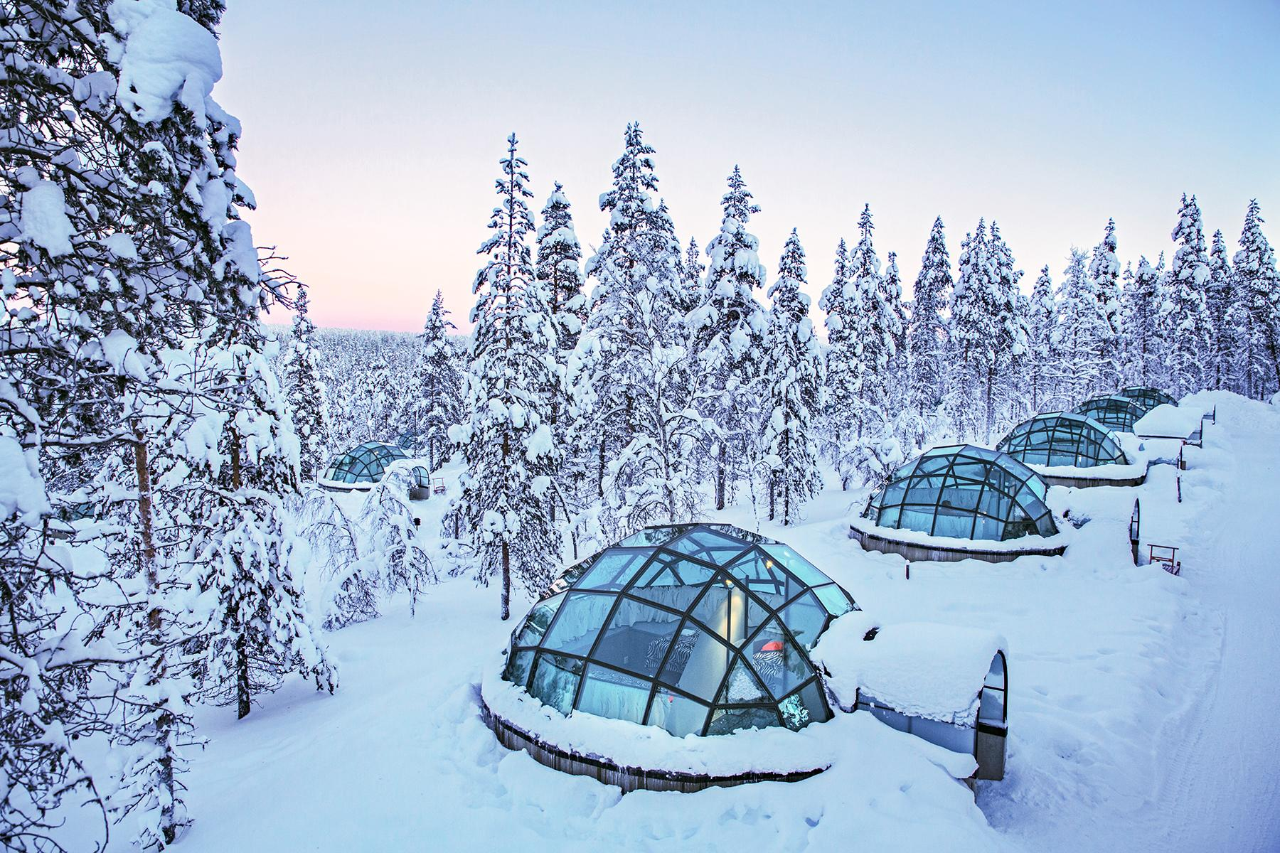 04_SleepinginaGlassIgloo__KakslauttenResort_Kakslauttanen glass igloo