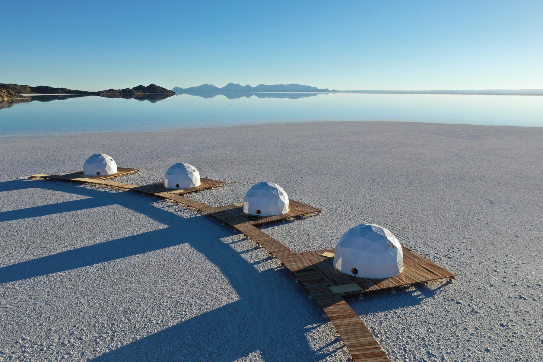 Glamp On The Bolivian Salt Flats At Kachi Lodge