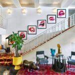 15_01_HotelAwards2020__USA_TheParkerPalmSprings_15 1 Lobby shot_ staircase across from front desk (1)