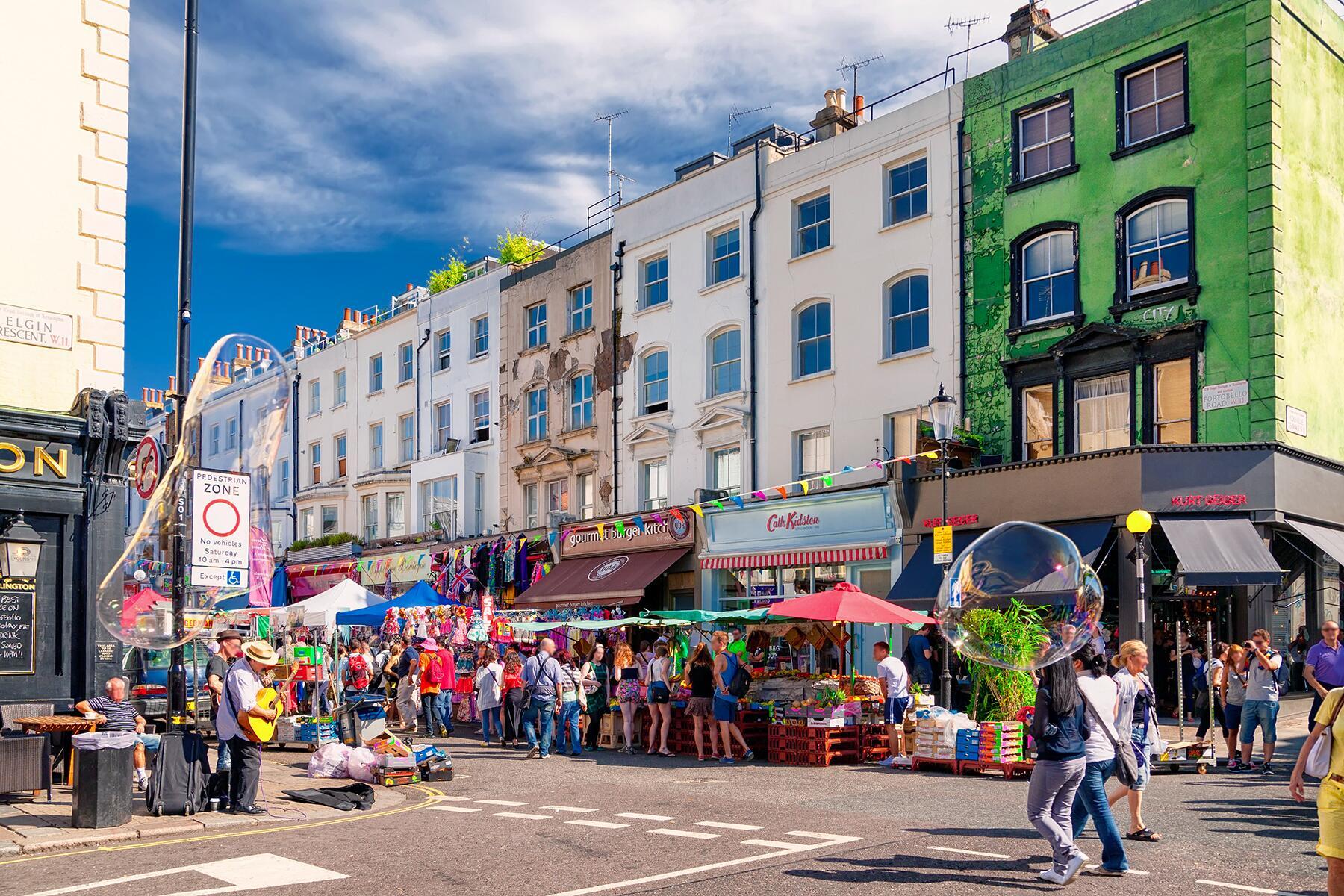 Explore Portobello Road in Notting Hill, London