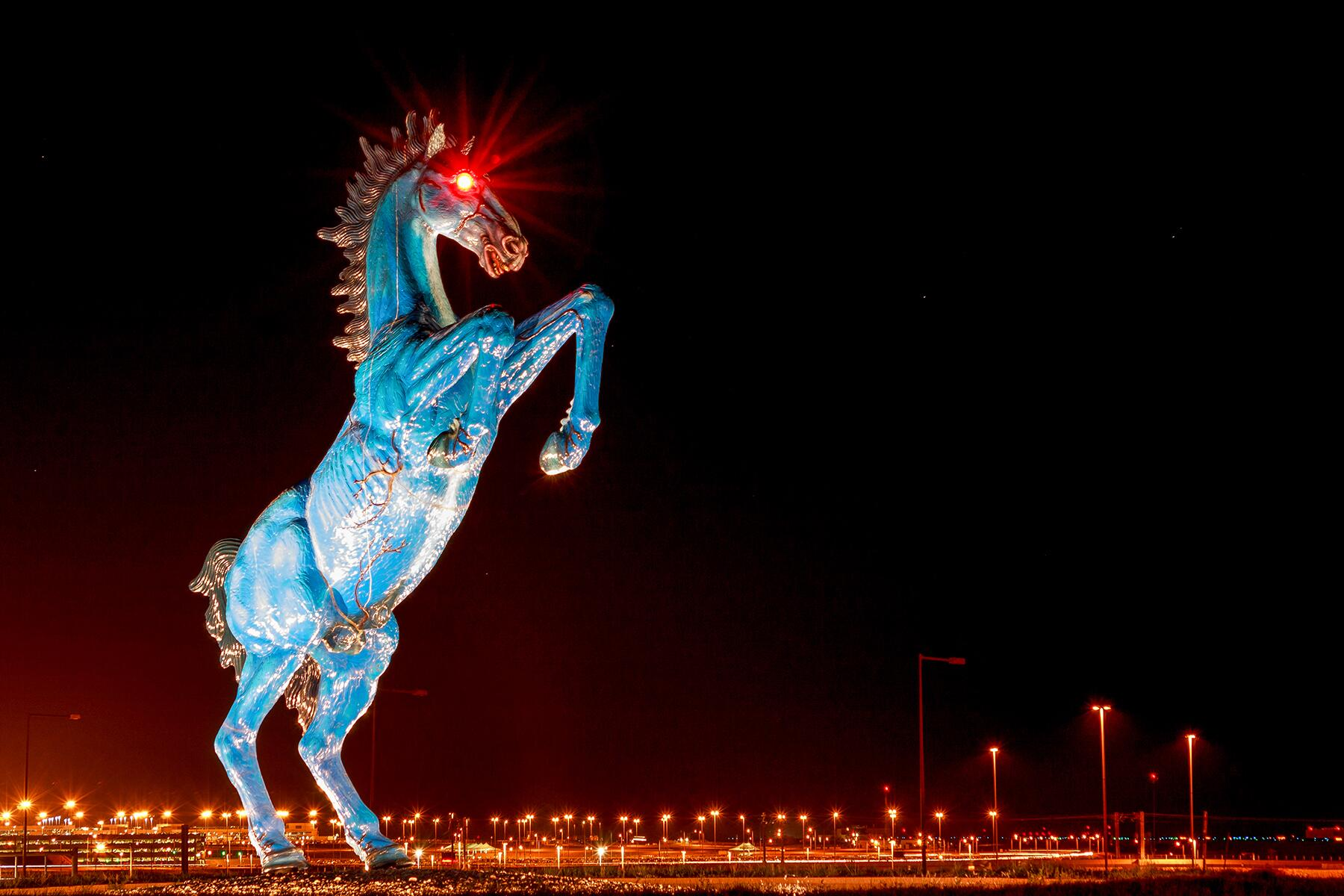 Blucifer What S The Story With Denver Airport S Scary Horse Statue