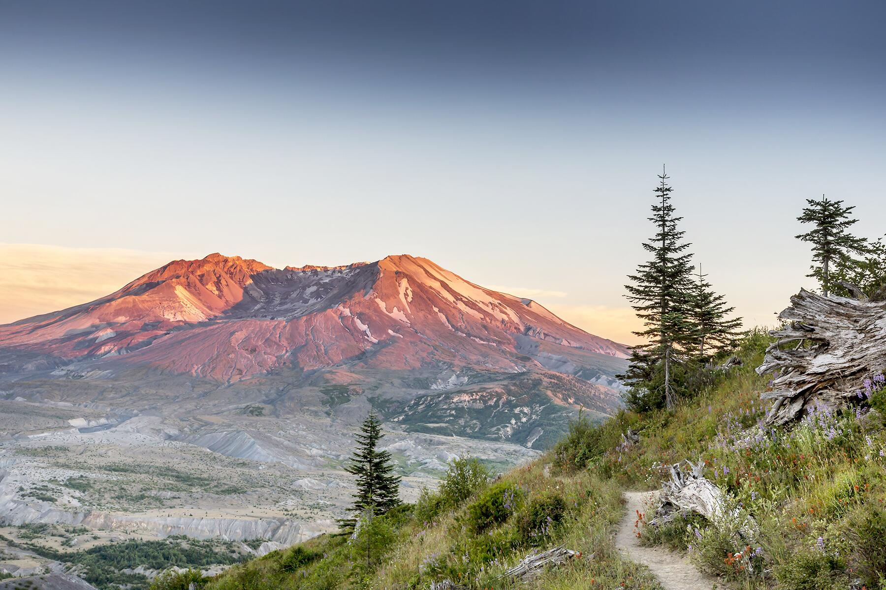 National Volcanic Monument to Mt. St Helens, Washington