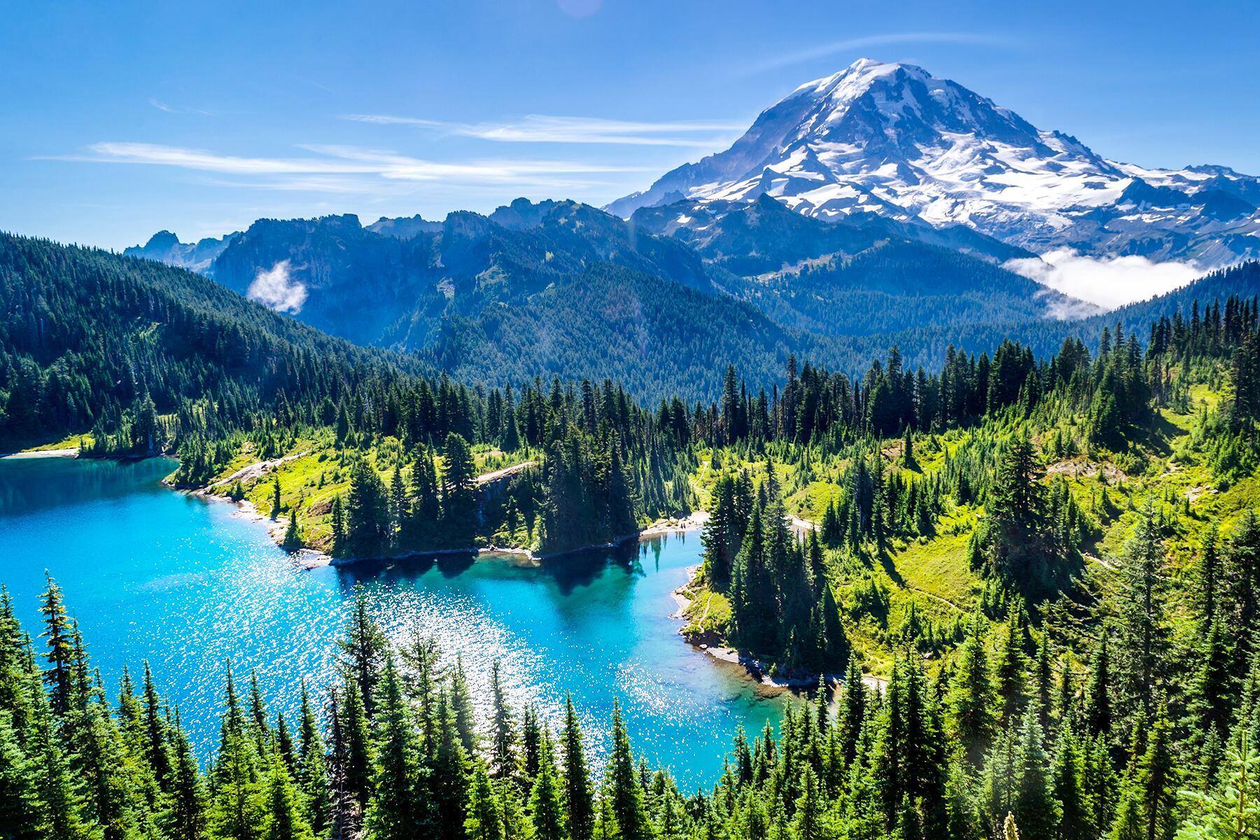 Mt. St. Helens to Mt. Rainier, Washington