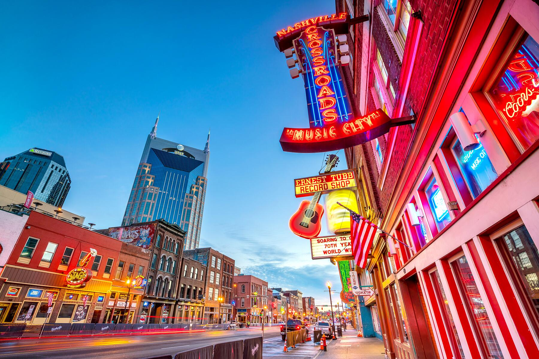 Memphis to Nashville, Tennessee